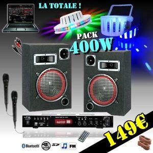 PACK SONO PACK SONO 400W + AMPLI MP3 USB + ENCEINTES + CABLE