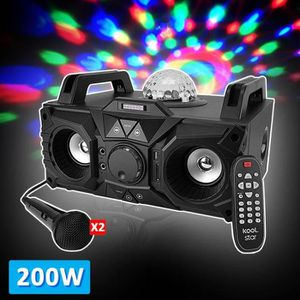 ENCEINTE ET RETOUR Enceinte karaoke 200W - USB-SD-BLUETOOTH - LED Mag