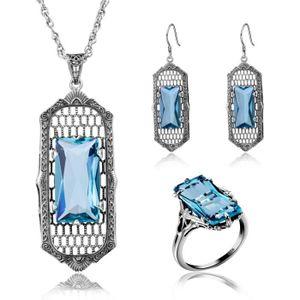 Boucles d/'oreilles de mariage pendentif en cristal argent