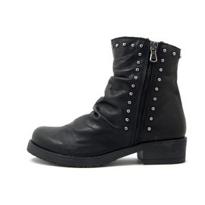 BOTTINE Bottine femme, cuir noir, talon bas , bottine d'hi