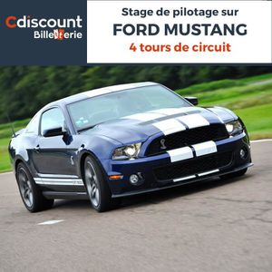 Spectacle Stage pilotage sur Ford Mustang - 4 Tours