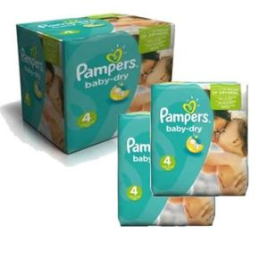 COUCHE 207 Couches Pampers Baby Dry taille 4
