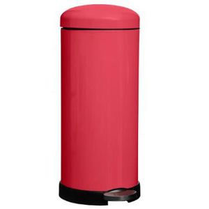 POUBELLE - CORBEILLE Poubelle en acier inoxydable, coloris rouge - Dim