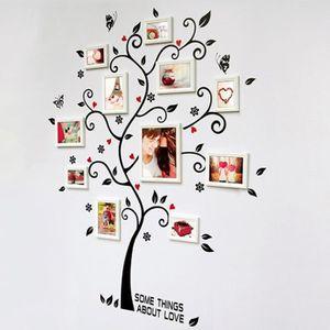 OTXA Acrylique 3D Famille Photo Cadre Arbre Stickers Muraux Amovible DIY Art Affiche Murale Stickers pour Le Salon Chambre D/écoration de La Maison