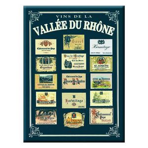 AFFICHE - POSTER Poster Métal Vins de la Vallée du Rhône 40 x 30cm