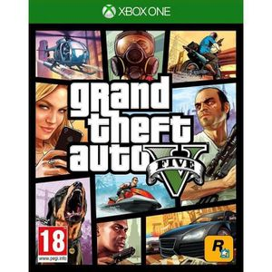 JEU XBOX ONE GTA V Xbox One + 2 Boutons Thumstick Offert