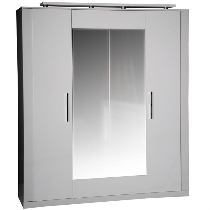 Armoire Glace Chambre : Armoire trendao portes blanches glace achat vente
