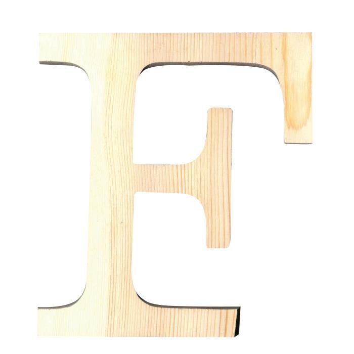 ARTEMIO Lettre F en Bois Découpé 11.5 cm
