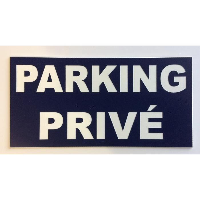 Panneau adhésif -PARKING PRIVÉ- format 150 x 300 mm SIGNALÉTIQUE