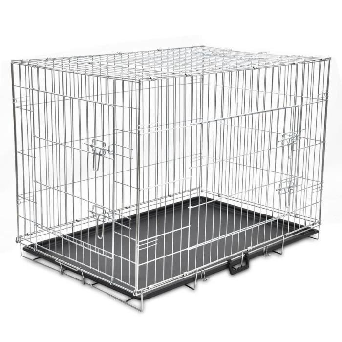 Cage Box Caisse de Transport métallique et pliable pour chiens XL