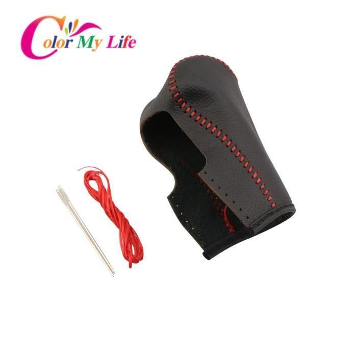 Black -Color My Life – couvercle de Protection du pommeau de levier de vitesse, en cuir, pour Jeep Renegade 2015 – 2020, accessoires