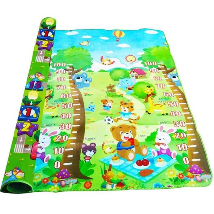 Tapis d'éveil,Tapis de jeu bébé tapis de jeu pour enfants enfants tapis épais tapis rampant - Type Growth Rich-180X120X0.5CM