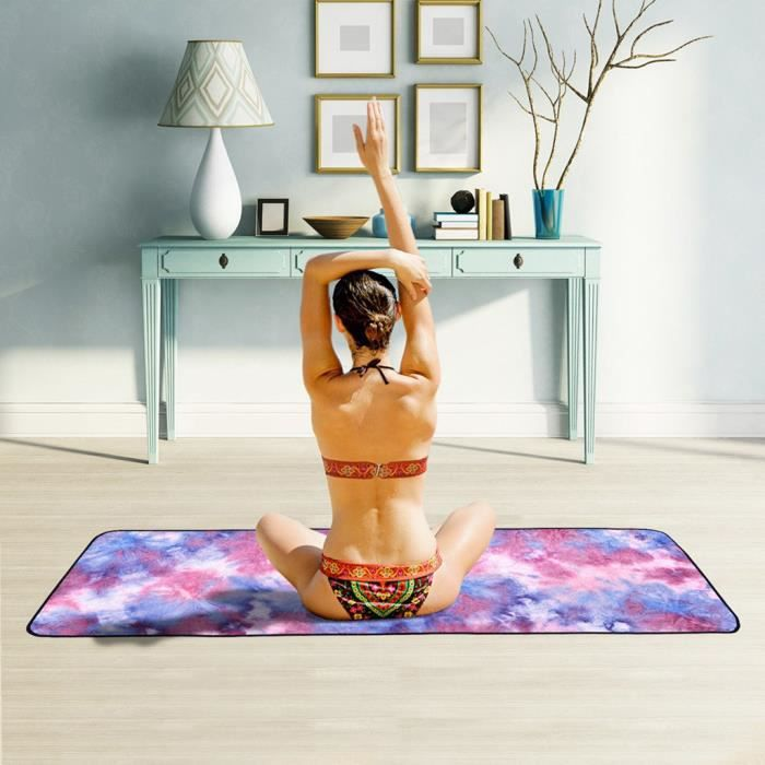 Serviette de yoga microfibre verte Yoga serviette antidérapante tapis de yoga serviette de sport pliage - sji zua 5071