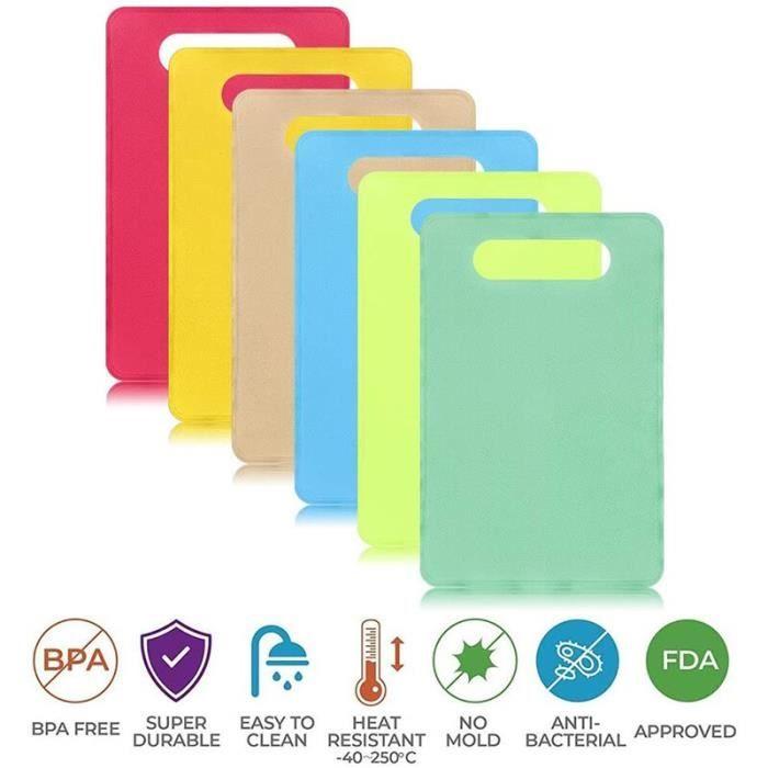 Planche à découper,Planche à découper Flexible en plastique sans BPA antibactérien codé lave vaisselle antidérapant - Type 1set #B