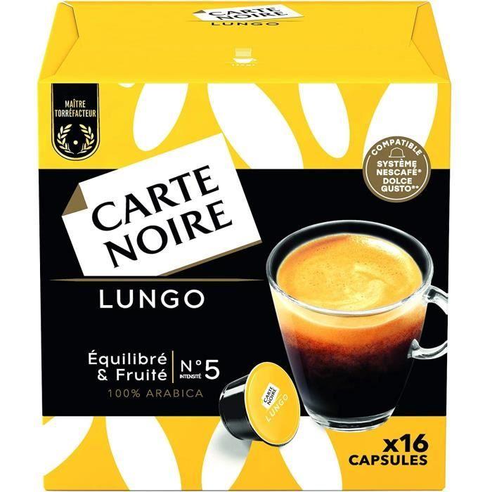 Carte Noire Café Lungo Capsules Compatibles Dolce Gusto 6 Paquets de 16 capsules (96 Capsules)