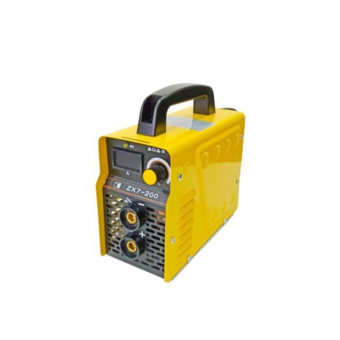 ZX7-200 mini machine de soudure électrique portative d'inverseur de soudeuse pour le fonctionnement de soudure et le