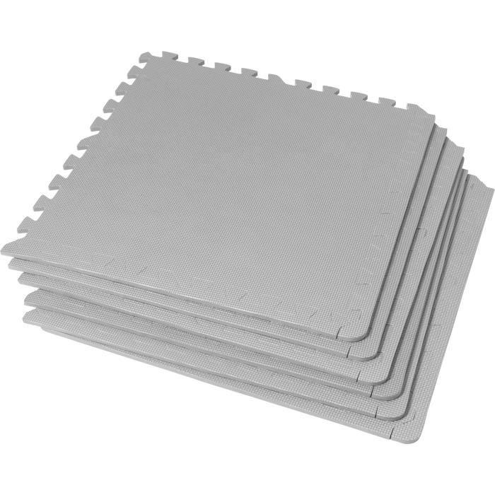 6 tapis de protection en mousse - épaisseur 1,2cm - 12 pièces d'about - Gris