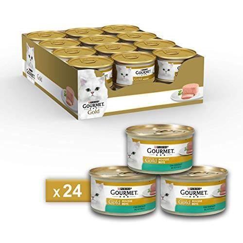 Gourmet Gold Mousse pour Le Chat, avec Lapin, 85 g – Lot de 24 pièces 5115674