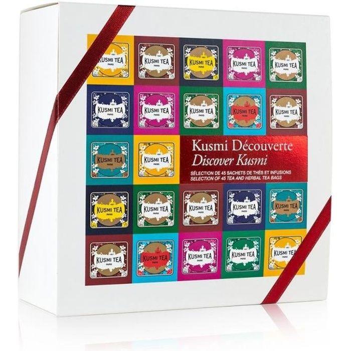 KUSMI TEA Découverte - Coffret 45 sachets enveloppés - 96 g