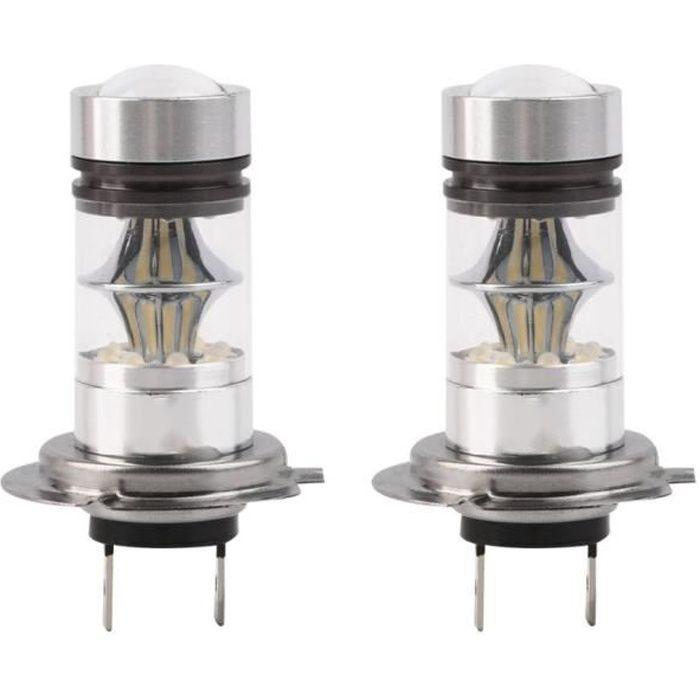 2 pcs ampoule LED H7 100W pour voiture 6000K 20-smd Projecteur Brouillard Conduite DRL Ampoules Cachées
