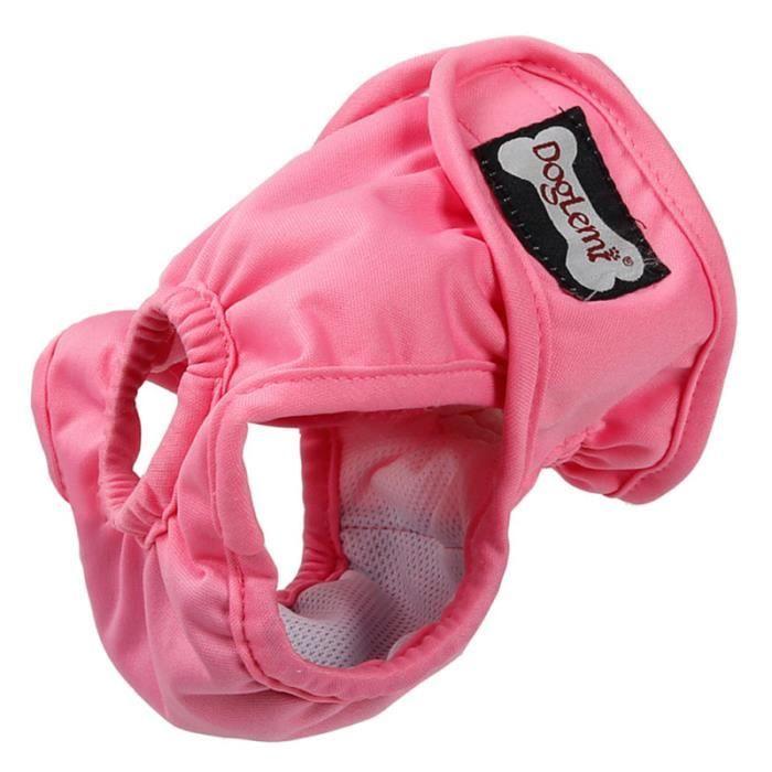 1 couche de protection physiologique lavable rose pour chiot de compagnie