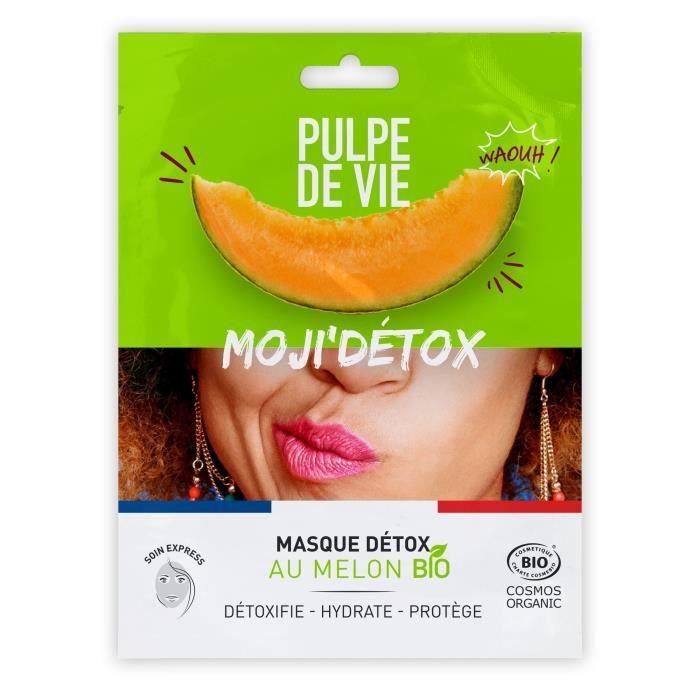 Pulpe de Vie MOJI'DETOX Masque tissu visage BIO 20ML