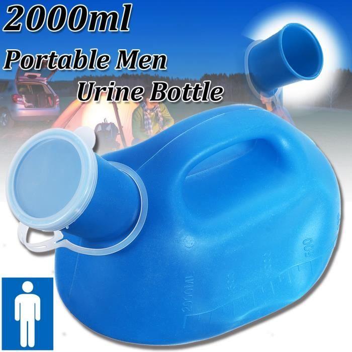 2000ML Urinoir Urinal Avec Poignee Bouchon Pour Homme Randonnée Camping Voyage En Plein Air