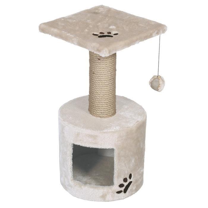 VADIGRAN Grimpoir Bongo - 30x30x59cm - Blanc cassé - Pour chat