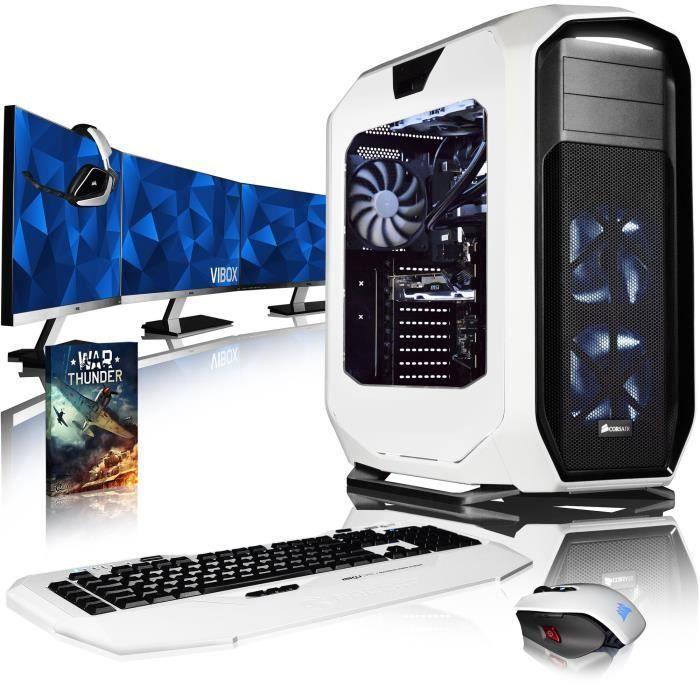 Vibox Rapture M580 770 Pc Gamer Ordinateur avec Jeu Bundle, 3x Triple 27