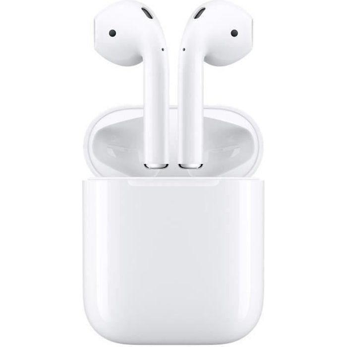 CASQUE - ÉCOUTEURS Apple AirPods 2 (2ème génération) + 1 Etuit silico