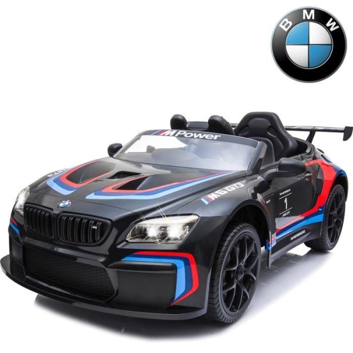 Audacieux Voiture électrique enfant sportive 12 volts BMW M6 GT3 noir HA-28