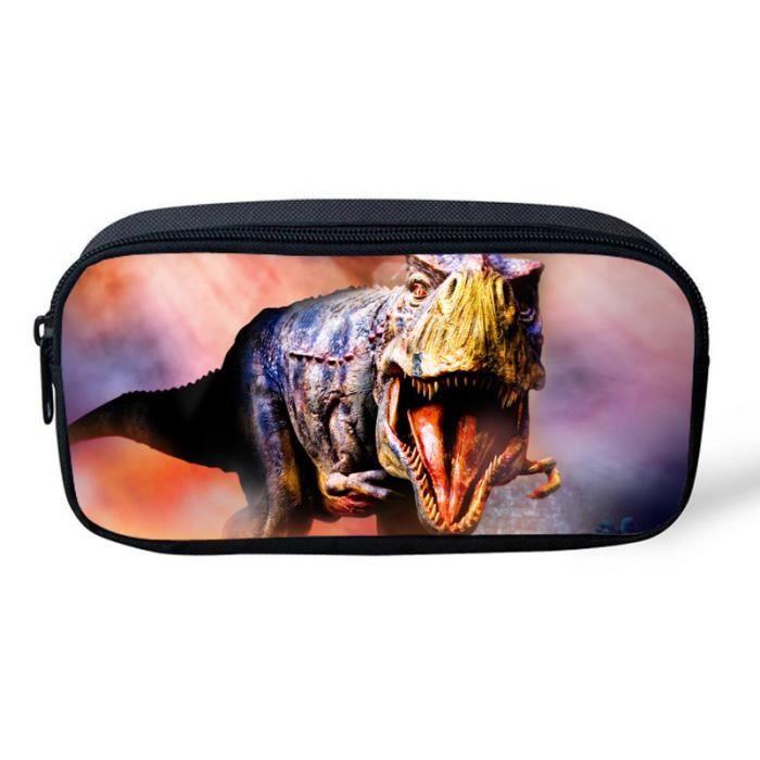 TROUSSE À STYLO Plumier impression dinosaure