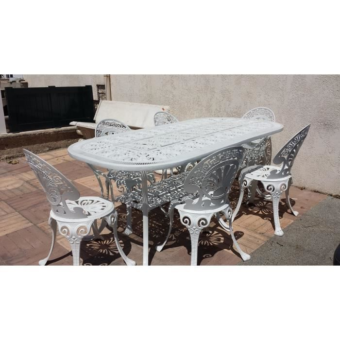 ensemble table aluminium et chaise achat vente salon de jardin ensemble table aluminium et. Black Bedroom Furniture Sets. Home Design Ideas