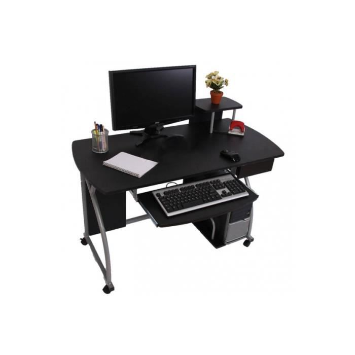 bureau informatique maria noir achat vente bureau. Black Bedroom Furniture Sets. Home Design Ideas
