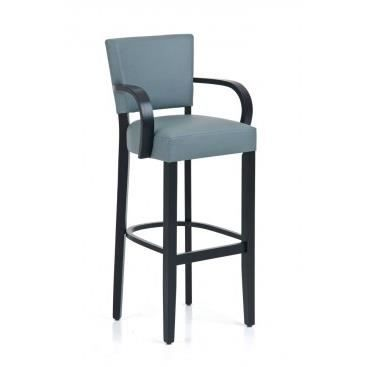 tabouret de bar design avec accoudoirs marinella gris achat vente tabouret de bar bois. Black Bedroom Furniture Sets. Home Design Ideas