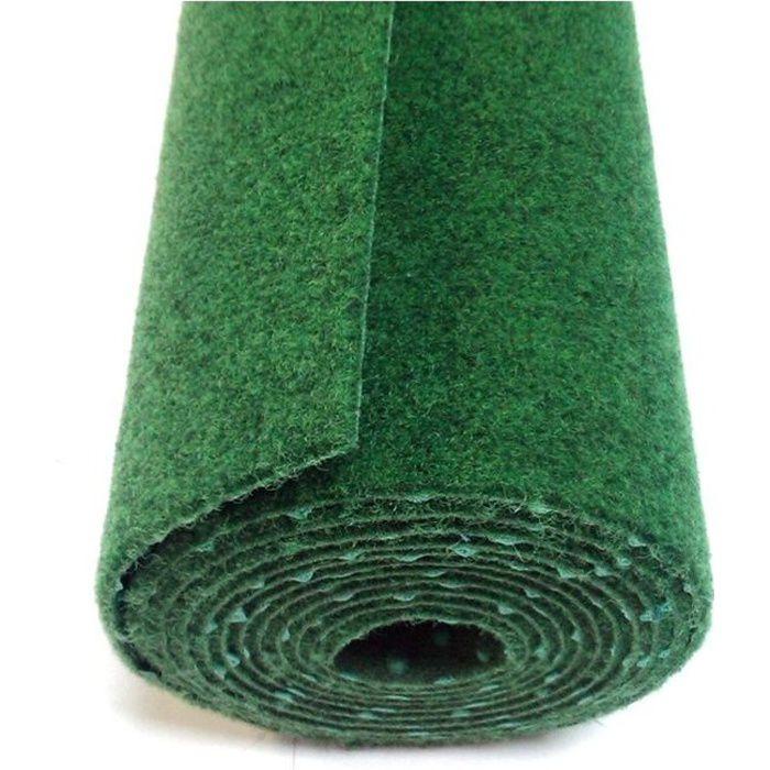 Vert 2,00m x 4,50m Tapis Type Gazon Synth/étique au m/ètre Moquette dext/érieur Tapis Gazon Artificiel GREEN avec Picots de Drainage Terrasse Balcon Jardin etc