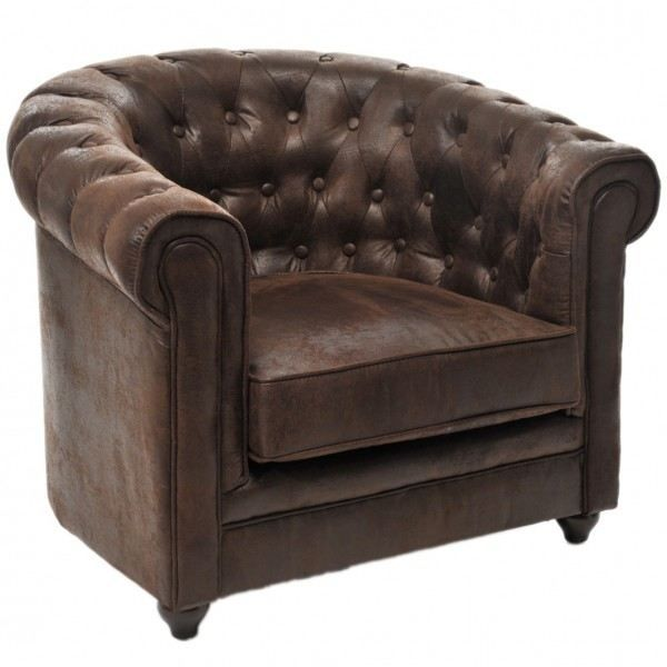 fauteuil simili cuir ravenne brun achat vente fauteuil marron cdiscount. Black Bedroom Furniture Sets. Home Design Ideas