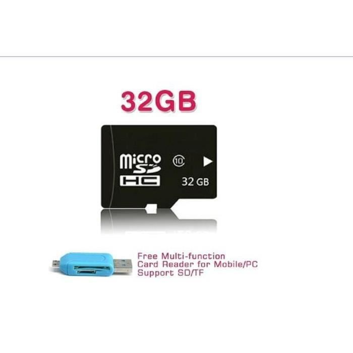 carte m moire micro sd sdhc de 32 go tf 32 go adaptateur sd otg lecteur de carte achat. Black Bedroom Furniture Sets. Home Design Ideas