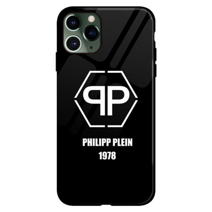 Coque iPhone 7-8,PHILIPP PLEIN Noir Logo Antichoc Premium Coque ...