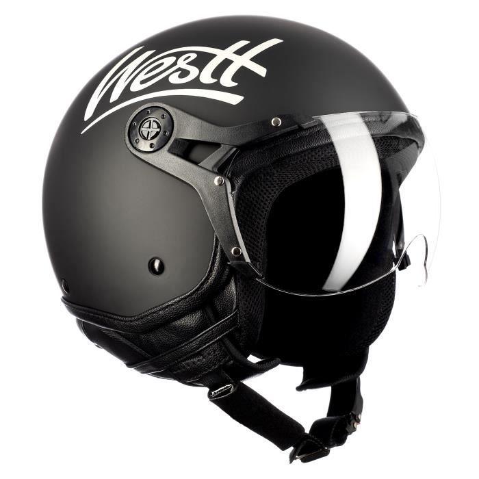 Moto r/étro Casque Ouvert Visage d/ét/é Casque Scooter Demi Visage Moto Casque Adulte Casque sub-Light XXXXL