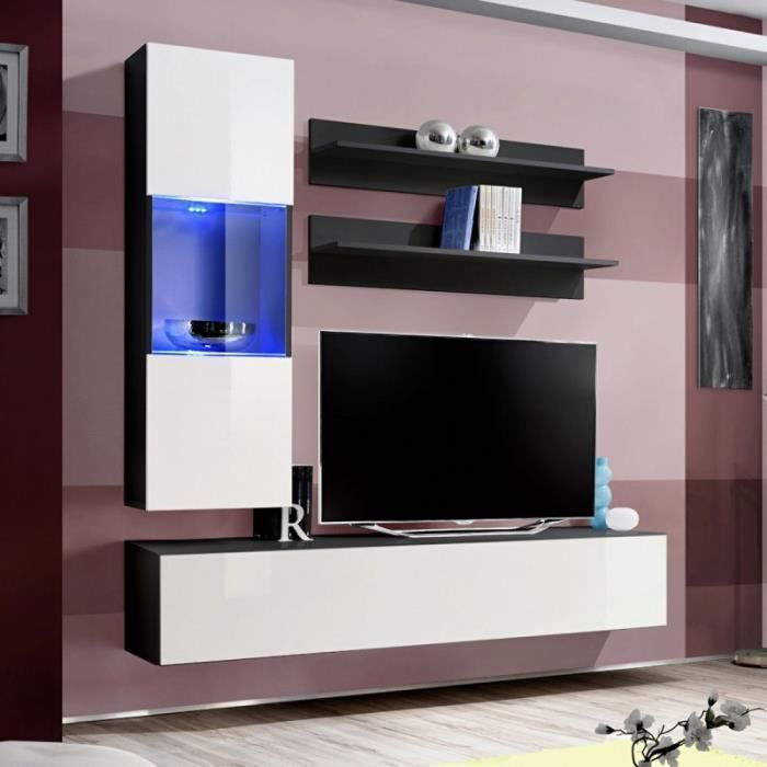paris prix meuble tv mural design fly iii 170cm blanc. Black Bedroom Furniture Sets. Home Design Ideas