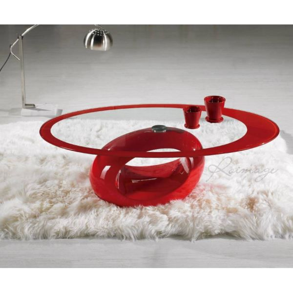 Table basse de salon verre fibre de verre saturne achat for Tables basses de salon en verre