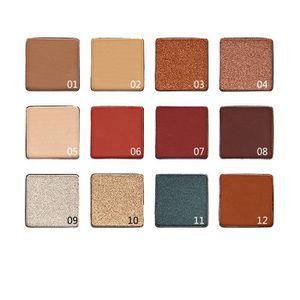 FARD À PAUPIÈRE Palette ombre à paupières Fashion 12 couleurs Pale
