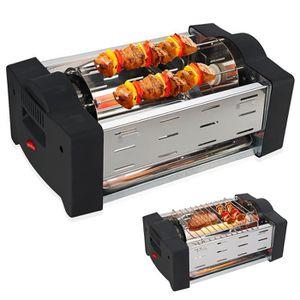 GRILL ÉLECTRIQUE Grill Electrique à Brochettes 1000W - Rotation 360