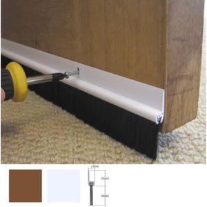 860mm Transparent Bas de porte en auto-adh/ésive avec brosse de la couleur correspondant au fixation
