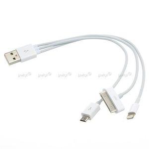 CÂBLE INFORMATIQUE Câble USB 3 en 1 Apple Dock 30 - 8 broches + Micro