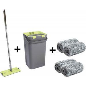 BALAI - PELLE Nouveau Balai Magique de nettoyage + Seau essoreur
