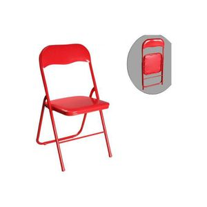 Chaise pliante metal rouge achat vente chaise pliante metal rouge pas che - Chaise pliante rouge ...