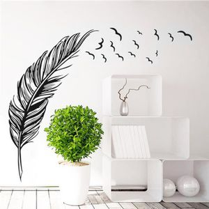 Stickers muraux plumes achat vente stickers muraux for Autocollant mural texte
