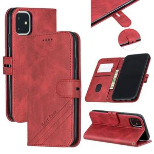 COQUE - BUMPER Coque iPhone 11,Rouge Haute qualité Couleur unie C